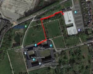 route museum naar zaalDepot Deluxe